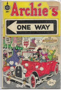 Archie's One Way   #nn (39c) FR (Spire Christian Comics)