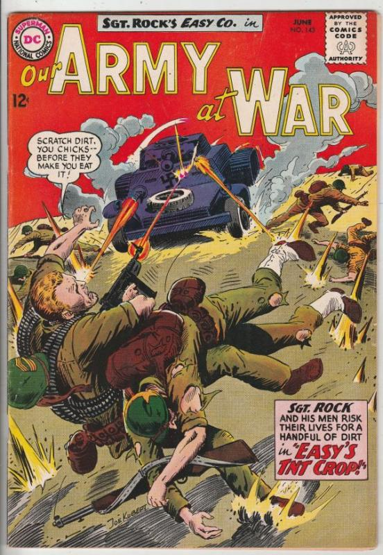 Our Army at War #143 (Jun-64) FN/VF+ High-Grade Easy Company, Sgt. Rock