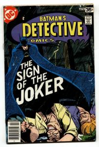 DETECTIVE COMICS #476 Iconic SIGN OF THE JOKER issue 1978 VF/NM