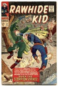 Rawhide Kid #57 1967-Marvel-When The Scorpion Strikes-FN-