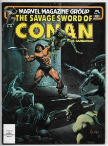 Savage Sword Of Conan Magazine #72 Jusko Cvr | Buscema (Marvel, 1981) VF