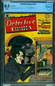 DETECTIVE COMICS #128-CBCS 8.5-Joker cover-HIGH GRADE-1947