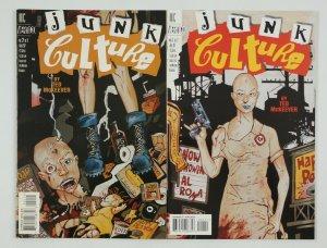 Junk Culture #1-2 VF/NM complete series - ted mckeever - vertigo comics set