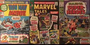 MARVEL TALES #10, MARVEL SUPERHEROES #22 & #29.3 BOOK LOT 1967-1969