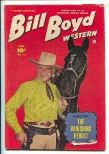 Bill Boyd Western #17 1951-Fawcett-Photo cover-Vanishing Herds-3 chapter st...