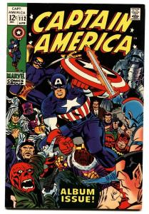 Captain America #112-Last Kirby issue- Red Skull- SA recovery retold- VF