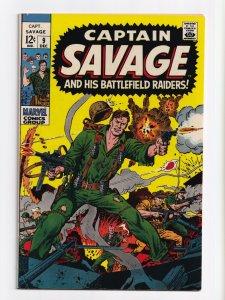 Captain Savage and His Leatherneck Raiders #9 Marvel Comics 1968 VF/NM 9.0