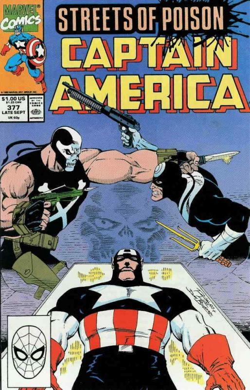 Captain America (1st Series) #377 VF/NM; Marvel | save on shipping - details ins