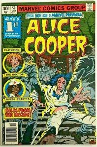 MARVEL PREMIERE#50 FN/VF 1979 ALICE COOPER MARVEL BRONZE AGE COMICS