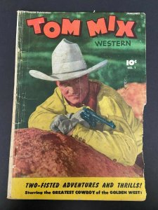 Tom Mix Western 1 GD+ (Fawcett Jan. 1948)