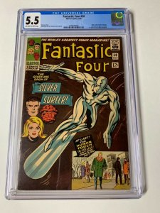 Fantastic Four 50 Cgc 5.5 Ow/w Pages Marvel Silver Age