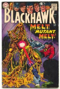 Blackhawk #228 1967-New uniforms- Mutant Melt VG