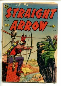 STRAIGHT ARROW  #9-1951-ME-MINING SKY BUCKET COVER-FRED MEAGHER ART-fr/good