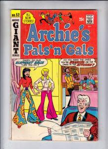 Archie's Pals 'n' Gals #52 (Jun-69) FN Mid-Grade Archie, Betty, Veronica, Reg...