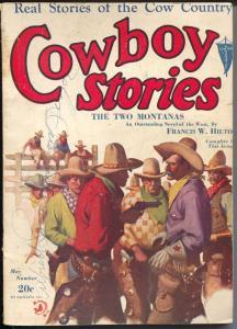 Cowboy Stories 5/1931-Clayton-Jerry Delmo-Nick Eggenhoffer-pulp thrills-G-