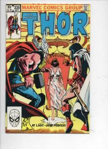 THOR #335 NM- God of Thunder Jane Foster 1966 1983, more Thor in store, Marvel