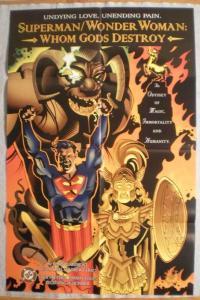 SUPERMAN / WONDER WOMAN Promo poster, 22x34, Unused, more Promos in store
