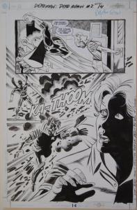 JIM APARO / RICK BURCHETT original art, DEADMAN #2 pg 14, 11x17, 2001, Splash