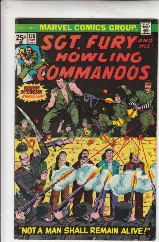 Sgt. Fury and His Howling Commandos #130 (Nov-74) FN/VF Mid-High-Grade Sgt. F...