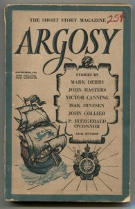 Argosy British Pulp November 1955- Mark Derby- Isak Dinesen