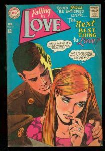 FALLING IN LOVE #97 1968-DC ROMANCE COMICS-MILITARY ISS FN