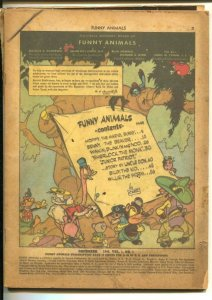 Funny Animals #1 1942-1st issue-1st Captain Marvel Bunny-WWII era humor-P