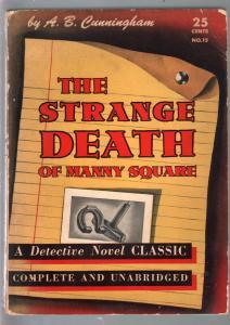 Detective Novel Classic #15 1941-Strange Death of Manny square-pulp crime-VG