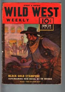 WILD WEST WEEKLY 6/29/1940-WESTERN PULP-SILVER KID FN-