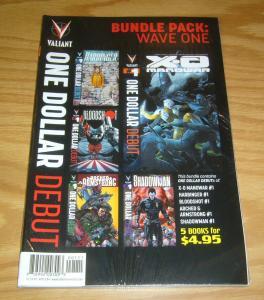 Valiant Bundle Pack: Wave One VF/NM x-o manowar - harbinger - bloodshot - set 1