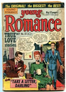 Young Romance #33 1951- Jack Kirby- Rare Golden Age G/VG