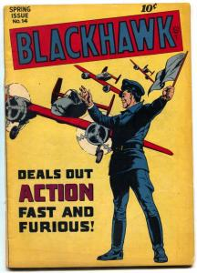 Blackhawk #14 1947- Bill Ward art- Golden Age CHOP CHOP FN