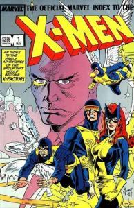 Official Marvel Index to the X-Men (1987 series) #1, NM- (Stock photo)