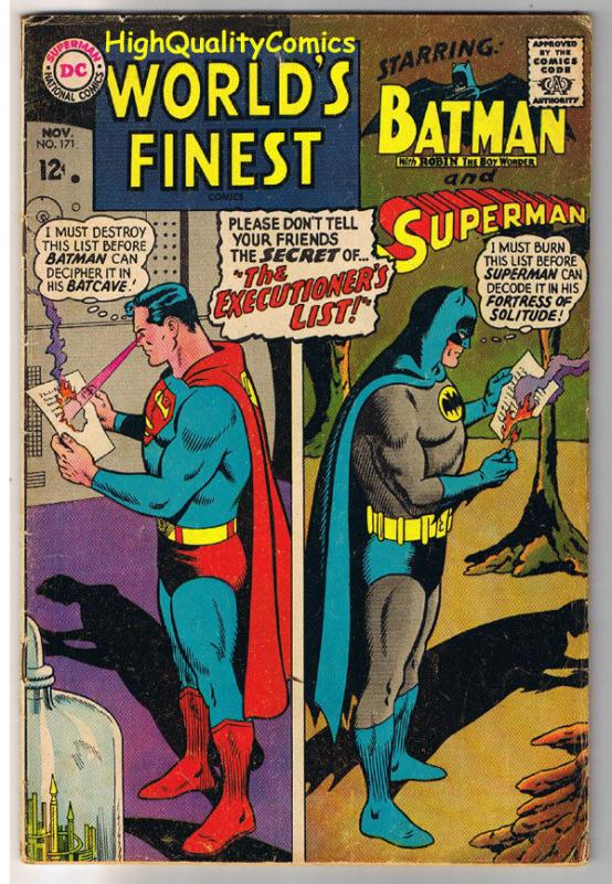 WORLD'S FINEST #171, VG+, Batman, Superman, Robin, 1941