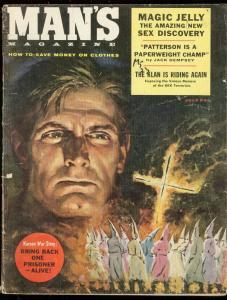 MAN'S MAGAZINE JULY 1957-KU KLUX KLAN COVER-DEMPSEY-PUL G