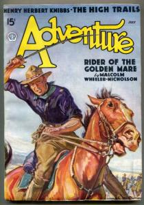 Adventure Pulp July 1936- Rider of the Golden Mare F/VF