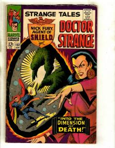 Strange Tales # 152 FN Marvel Comic Book Doctor Strange Nick Fury Shield GK3