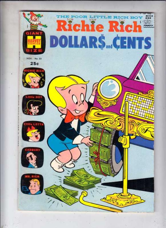 Richie Rich Dollars and Cents #33 (Nov-69) VF High-Grade Richie Rich