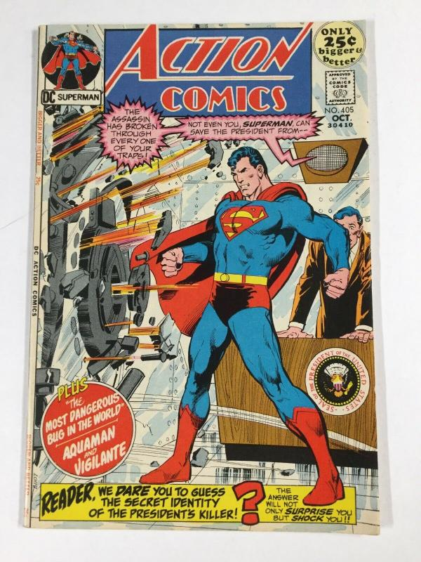 Action Comics 405 8.0 Vf Very Fine Dc Bronze Age