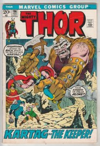 Thor, the Mighty #196 (Feb-72) FN/VF Mid-High-Grade Thor