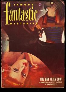FAMOUS FANTASTIC MYSTERIES 1952 OCT-VIRGIL FINALY-PULP FN/VF
