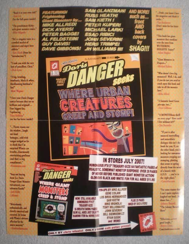 DORIS DANGER CREATURES Promo Poster, 17x22, Unused, more Promos in store