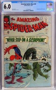 The Amazing Spider-Man #29 (1965) CGC Graded 6.0