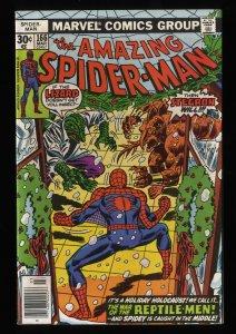 Amazing Spider-Man #166 VF/NM 9.0 Marvel Comics Spiderman Lizard!