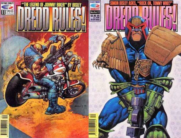 DREDD RULES (FT/Q) 11-12 'Johnny Biker' SIMON BISLEY COMICS BOOK