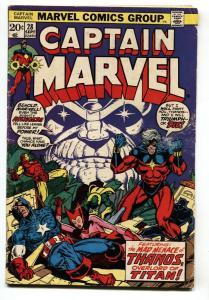 CAPTAIN MARVEL #28 comic book-THANOS-STARLIN-1973-BRONZE