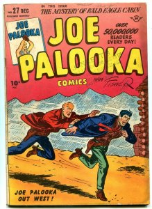 JOE PALOOKA #27 1948-HARVEY COMICS-LITTLE MAX BABE RUTH FR/G