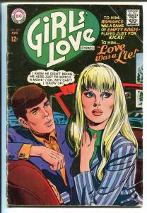 Girls' Love Stories #129 1967-DC-drive-in movie-classic cover-VG