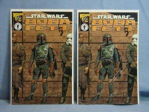 TWO Copies BOBA FETT #1/2 Dark Horse Comics WIZARD Exclusive 1997 With COAs L@@K