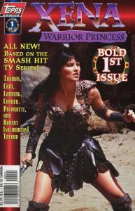 XENA WARRIOR PRINCESS (1997 TOPPS) 1A, 2 VG-F two issue