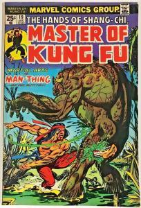 MASTER OF KUNG FU#19  FN+ 1974 SHANG-CHI MARVEL BRONZE AGE COMICS